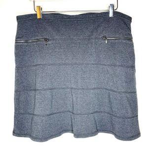 ATHLETA Strata Seamed Ponte Skirt Gray XL Womens